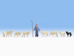 Noch 36748, Sheep and Shepherd