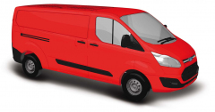 Busch 52400, Ford Transit Custom Van, Red