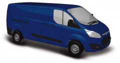 Busch 52401, Ford Transit Custom Van, Blue