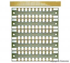 Viessmann 6859, Soldering distribution strips, 2-pole, 5 pieces