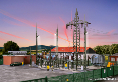 Kibri 39840, H0 substation substation Baden-Baden with electric flashes