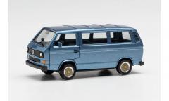 Herpa 730876, VW T3 Bus mit BBS-Felgen, blaumetallic