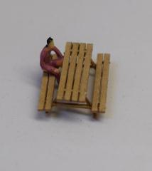 LaserCraft 91-602, Rest area bench 2 pieces, 1:87