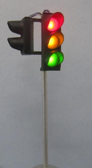 Verkehrsampel rot/gelb/grün, mit Fußgänger linke, SG300, 1 Stück Westdeutsch