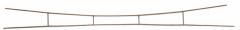 Sommerfeldt 473, Fahrdraht verkupfert 0,5 x 250 mm offen (5 Stück)