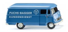 Wiking 026503, Kastenwagen (MB L 319) Fuchs Bagger Kundendienst