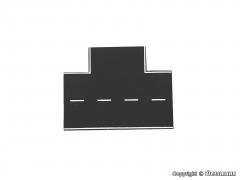 Auhagen 48263, H0 Straßenplatte Asphalt, 90°-Einmündung, L 15,5 x B 13 cm